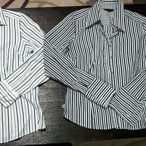 2 next pinstriped blouses (lot)